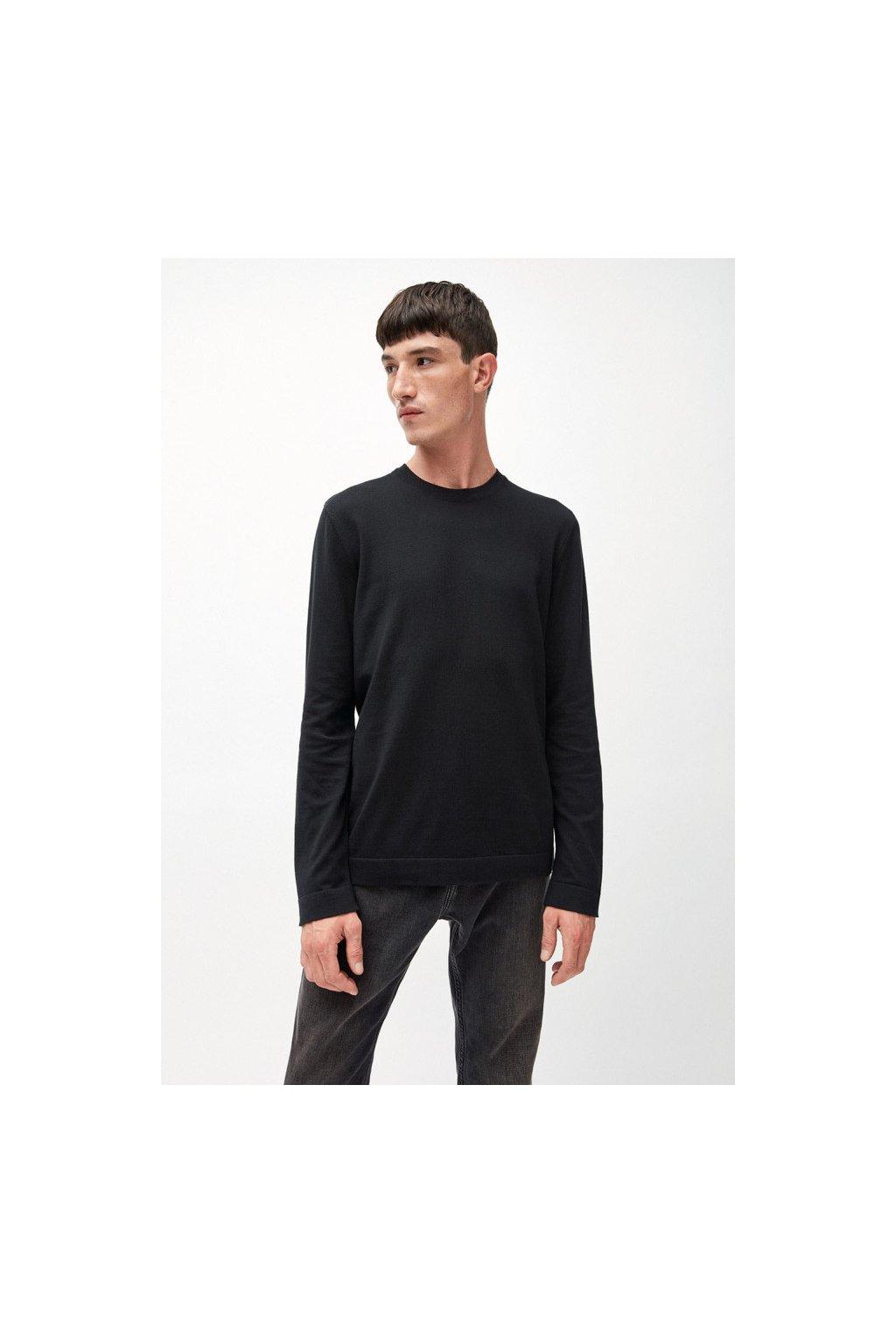 """Pánský černý svetr z biobavlny """"LAADO"""" (Velikost L)"""