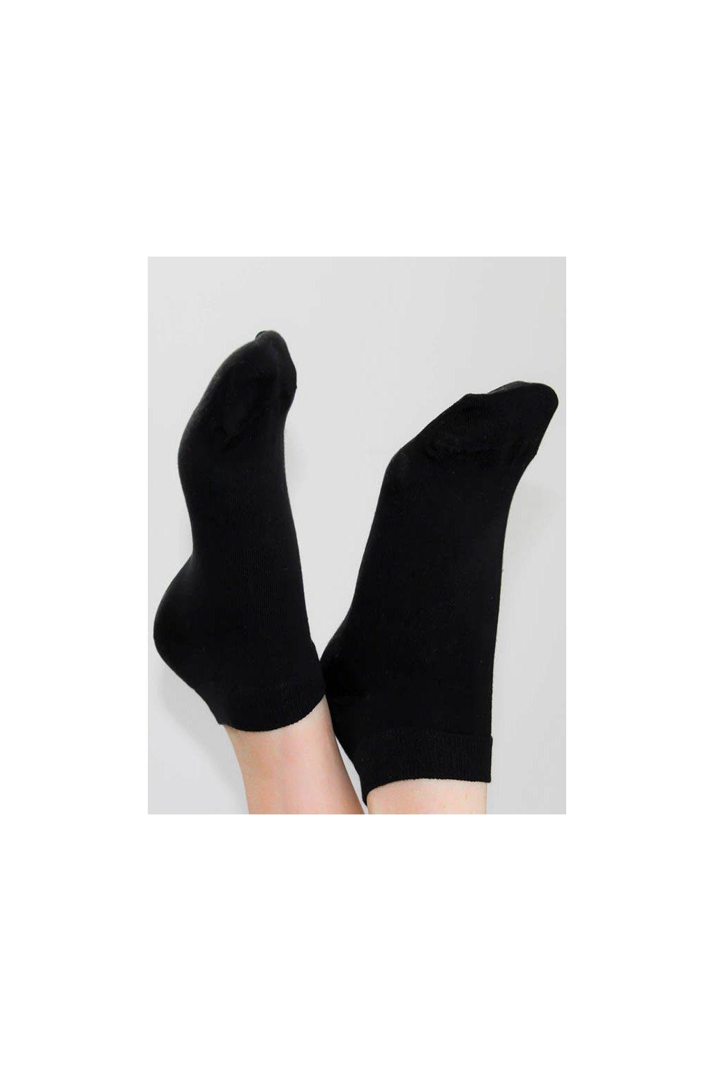 Ponožky do tenisek - černé (Velikost 35-38)