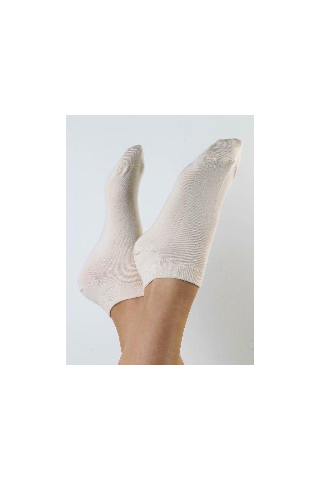 Ponožky do tenisek - přírodní (Velikost 35-38)