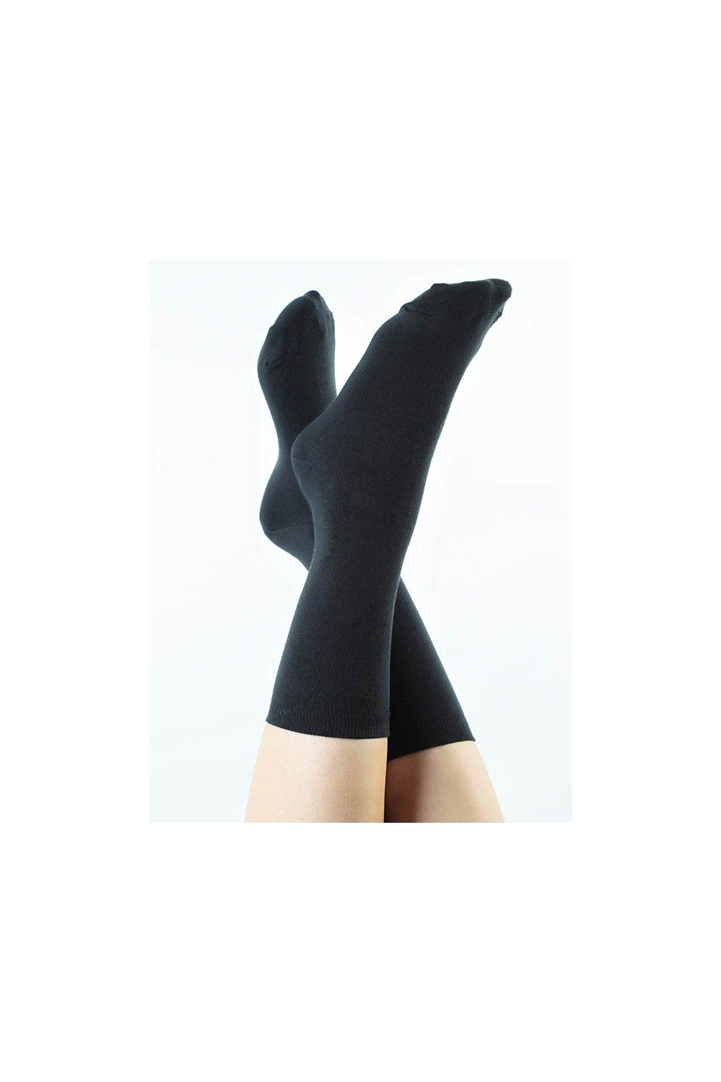 Ponožky z biobavlny - černé (Velikost 35-38)