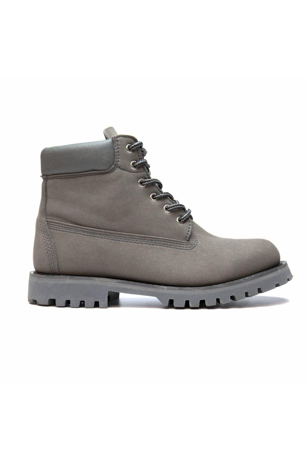 """Ručne šité šedé členkové topánky """"Etna Grey"""""""