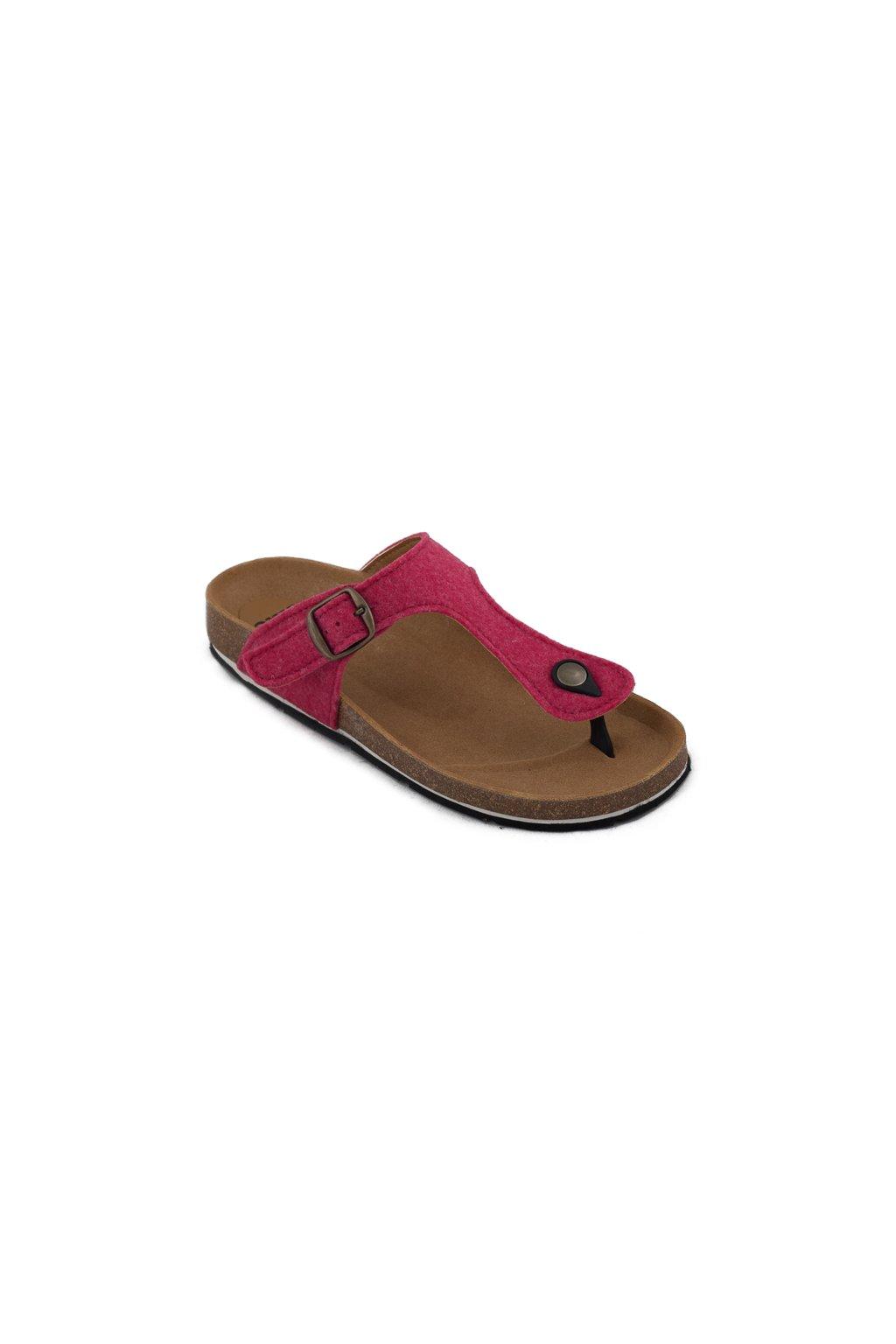 """Ružové sandálky z recyklovaných fliaš """"Kos Pink"""""""