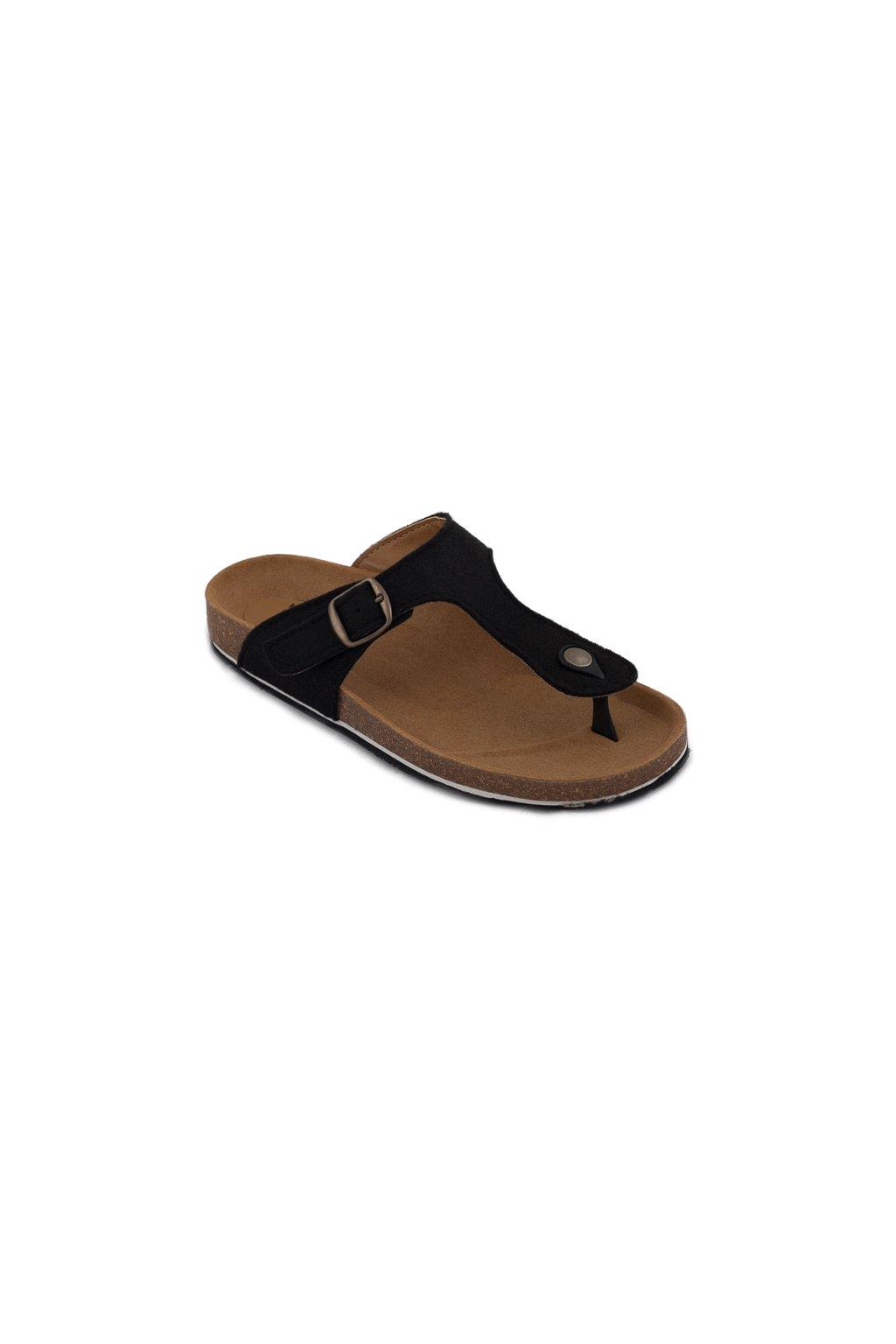 """Sandálky z recyklovaných fliaš """"Kos Black"""""""