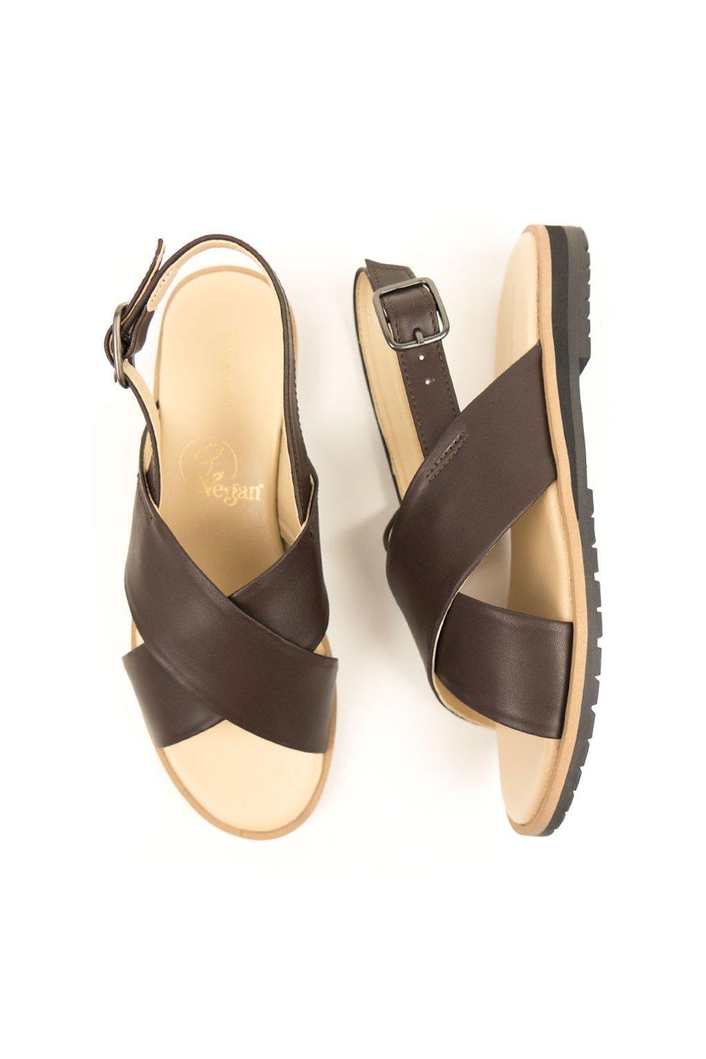 "Dámske tmavohnedé sandále ""Huaraches"""