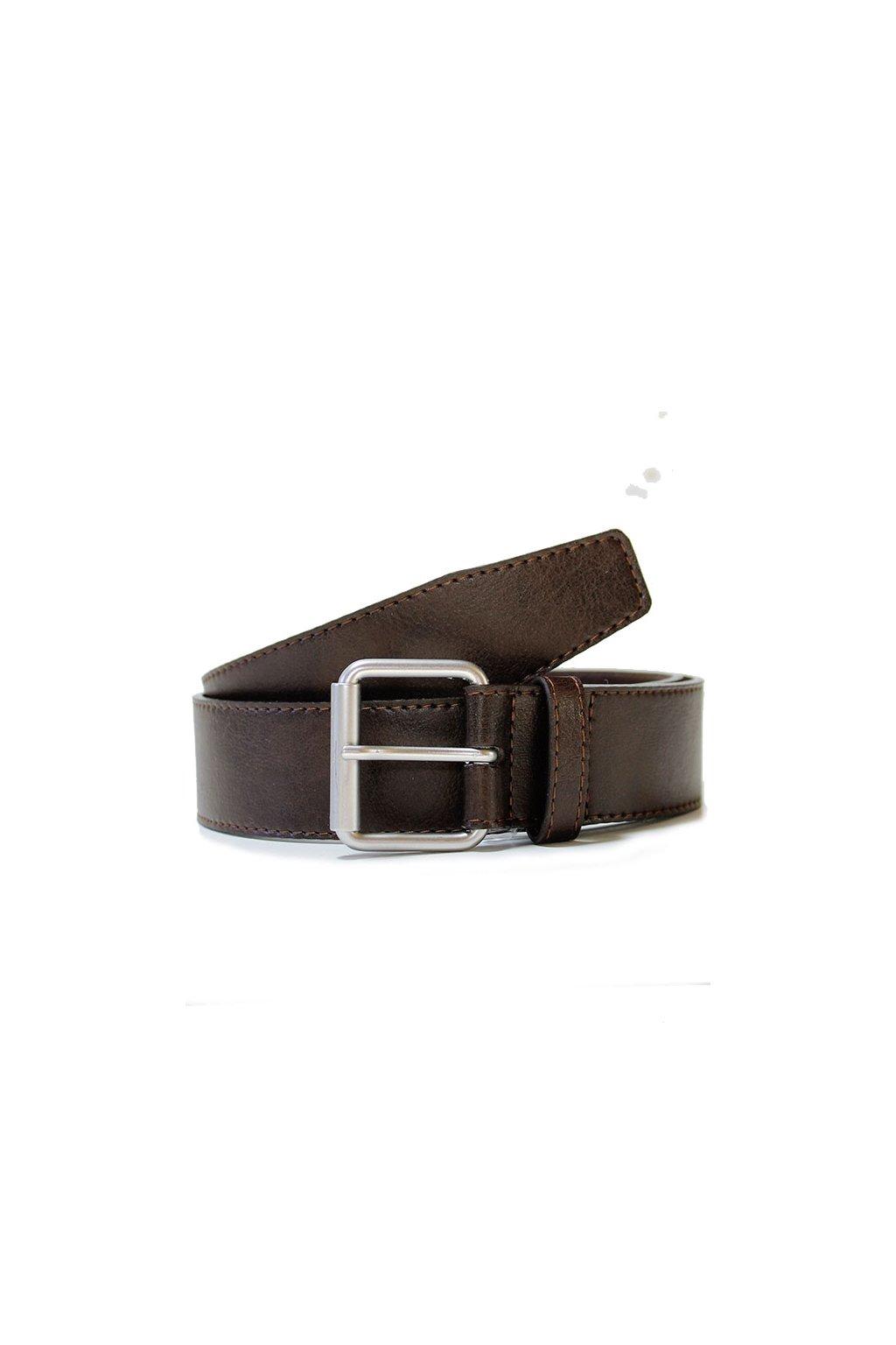 """Tmavohnedý opasok 4 cm """"Jeans Belt Dark Brown"""""""