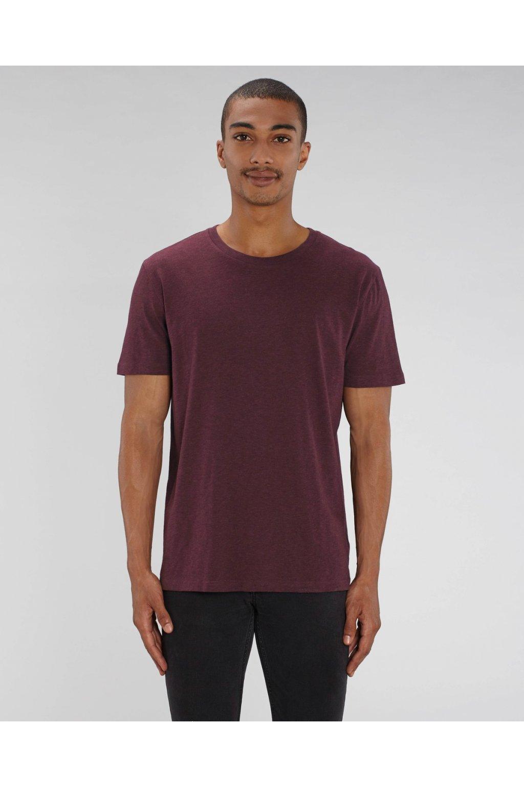 """Unisex tričko """"Creator"""" vínové melírované (Barva Vínová melírovaná """"Heather Grape Red"""", Velikost L)"""