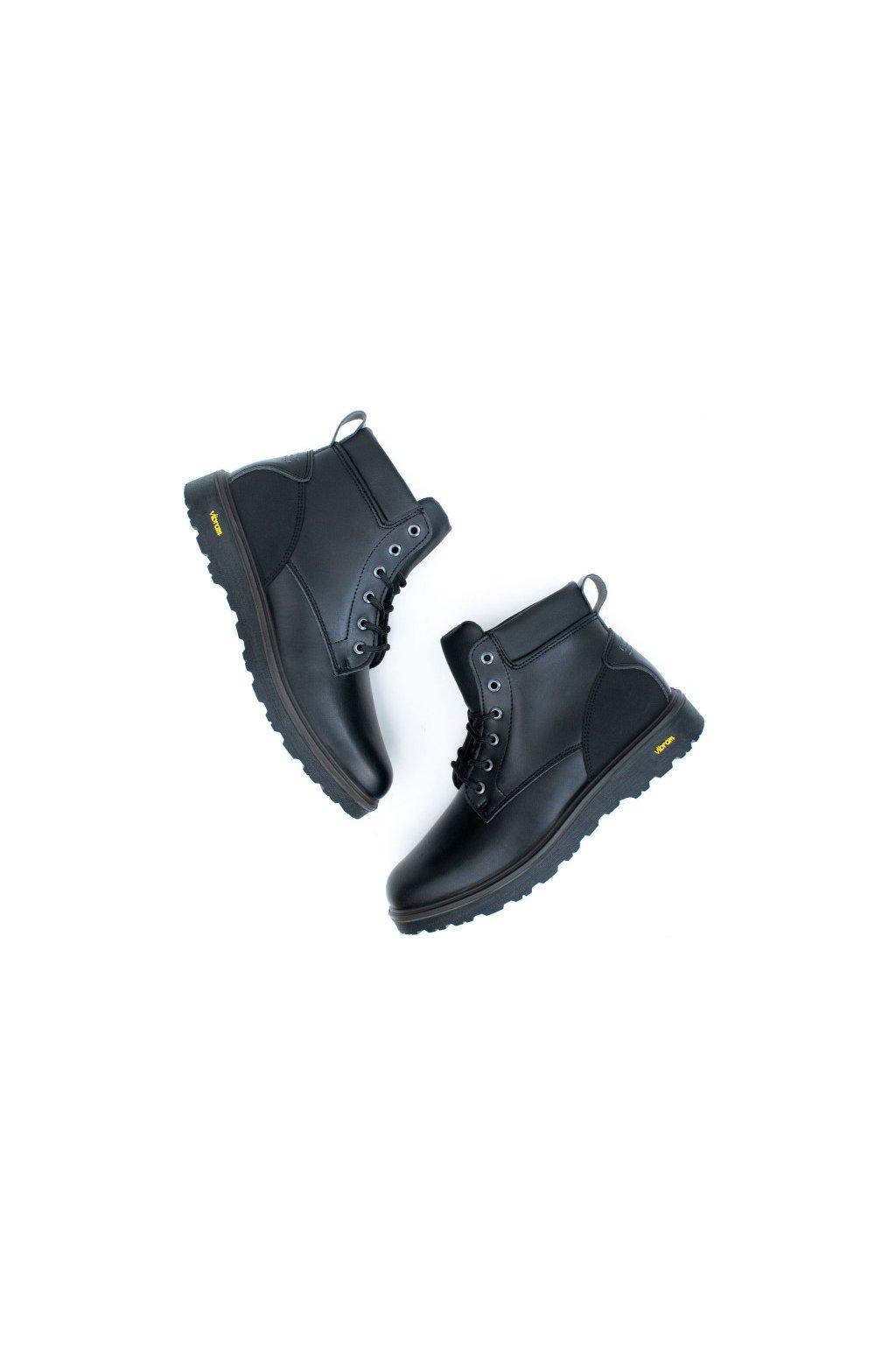 "WVSport Čierne vodotesné členkové topánky ""Waterproof Urban Boots"""