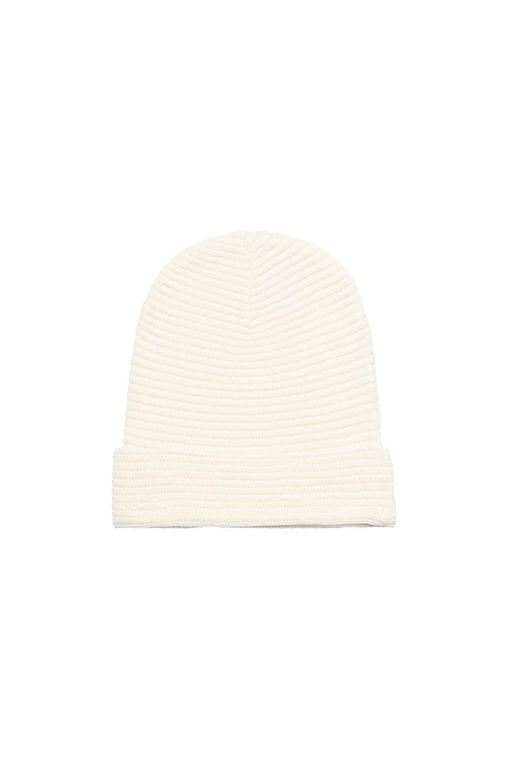 Pletená čapica - krémová (rebrovaná)