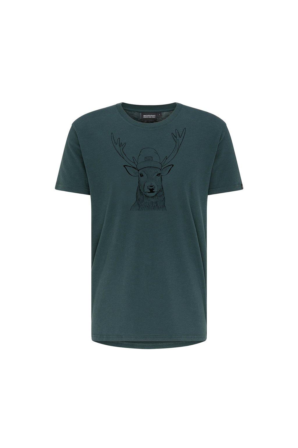 "Pánske zelené tričko ""DEER eucalyptus"""