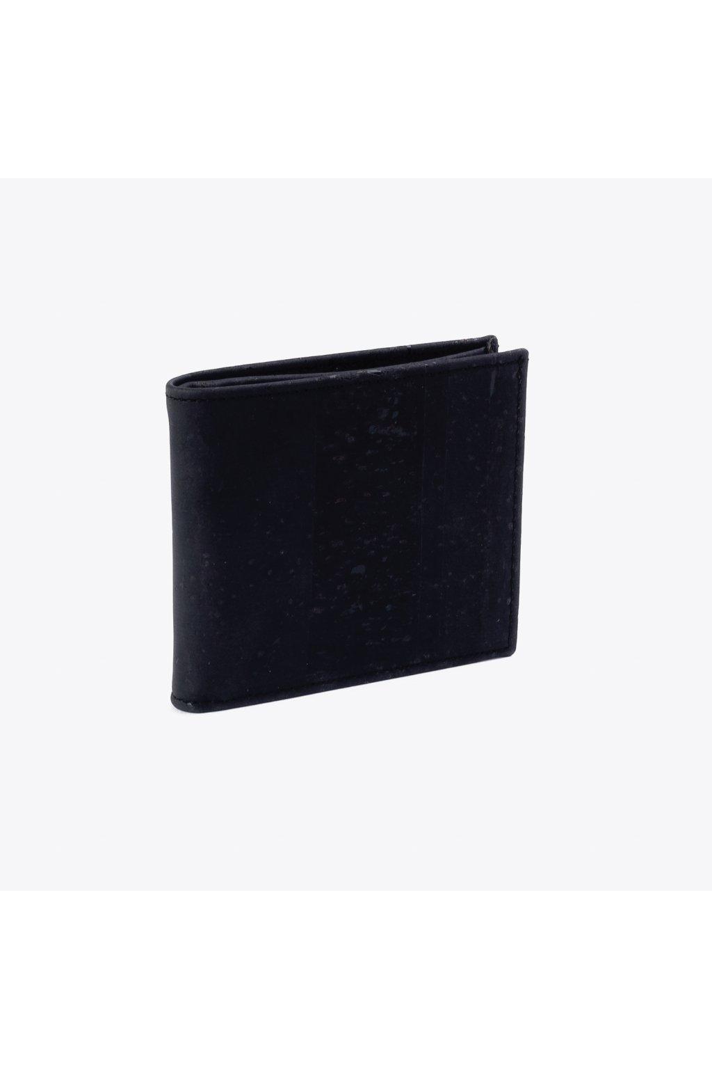 Pánska korková peňaženka (menšia) - čierna