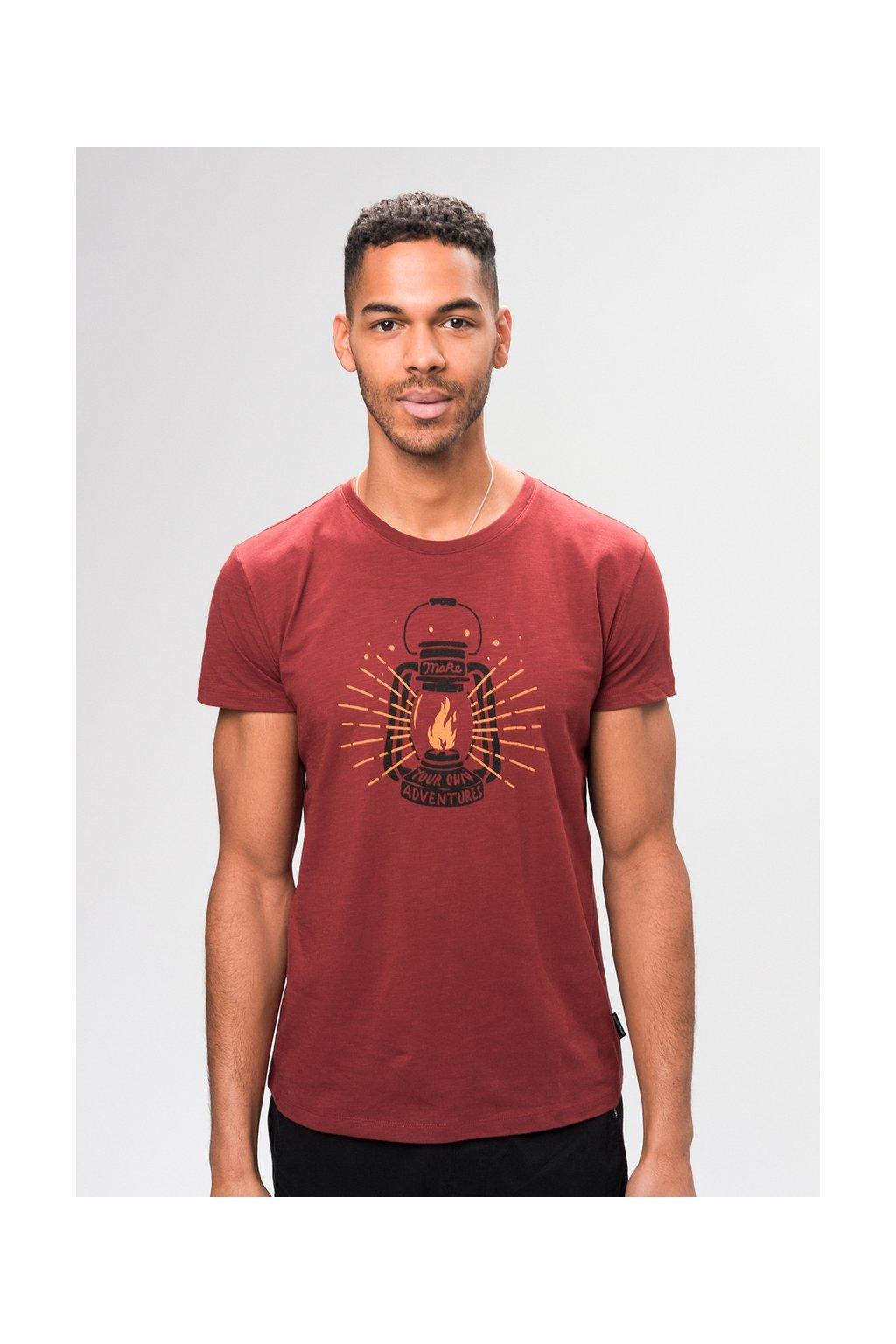 """Pánske červené tričko """"ADVENTURES autumn red"""""""