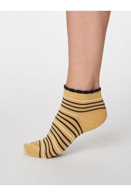 "Dámske žlté bambusové ponožky ""Lorraine Stripey buttercup"""