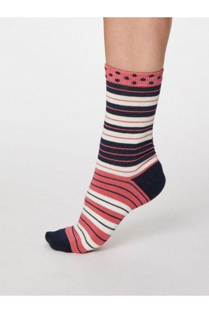 """Dámske pruhované bambusové ponožky """"Addie"""""""
