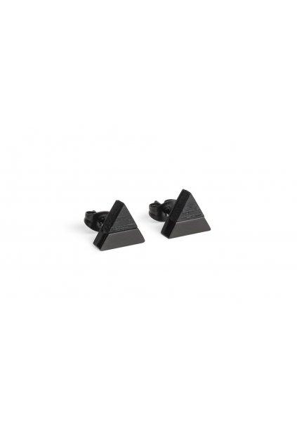 "BeWooden Náušnice s dreveným detailom ""Nox Earrings Triangle"""