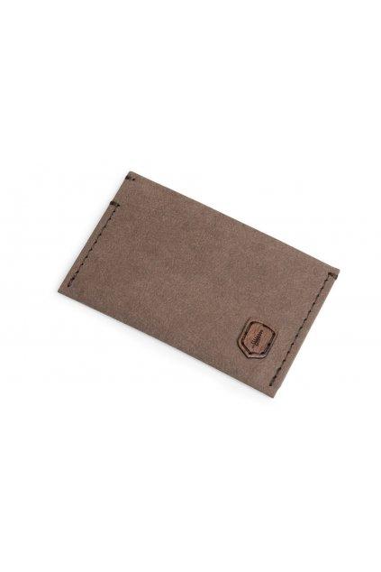 BeWooden Card Holder z prateľného papiera - hnedý