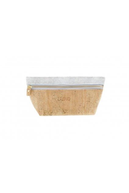 """Kozmetická taštička z recyklovaných plastov a korku """"CANA marble/natural"""""""