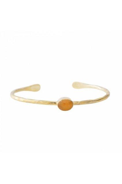 """Dámsky náramok """"Moonlight Citrine Gold Bracelet"""""""