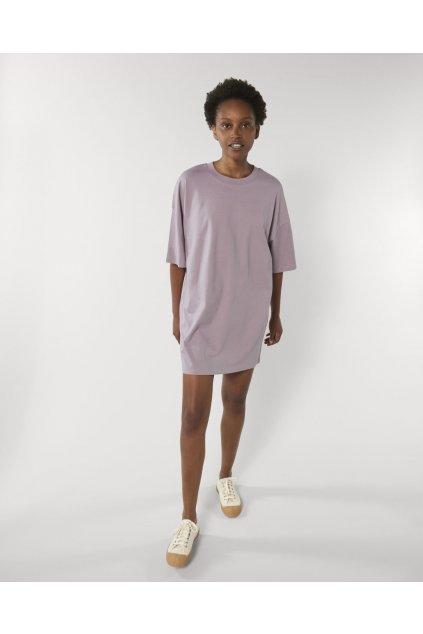"""Dámske jednoduché šaty """"Stella Twister Lilac Petal"""""""