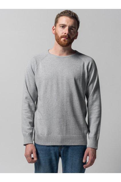 "Pánsky pletený sveter ""Knit Pullover grey"""