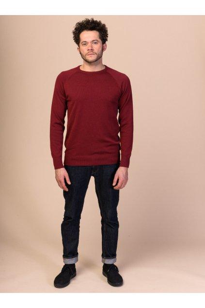 """Pánsky pletený sveter """"Knit Pullover burgundy"""""""