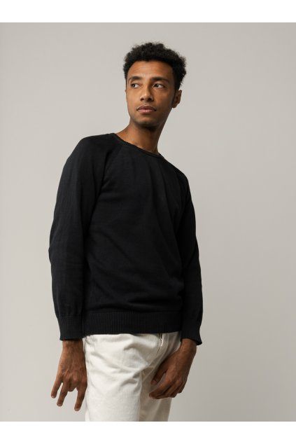 "Pánsky pletený sveter ""Knit Pullover black"""