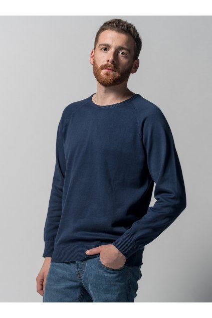 "Pánsky pletený sveter ""Knit Pullover blue"""