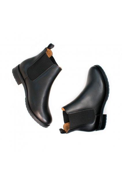 """Dámske čierne členkové topánky """"Luxe Smart Chelsea Boots"""""""
