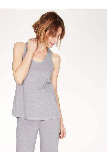 wst4870 pebble grey nellie pebble grey bamboo pyjama top 1