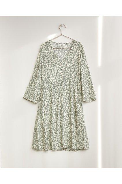 "Dámske vzorované šaty ""Long-Sleeve Floral Dress green"""
