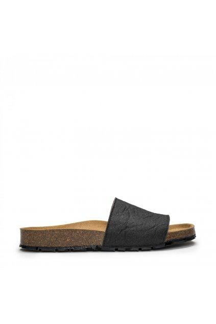 "Unisex čierne sandálky ""Bay Piñatex Black"""