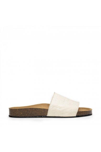 "Unisex biele sandálky ""Bay Piñatex White"""