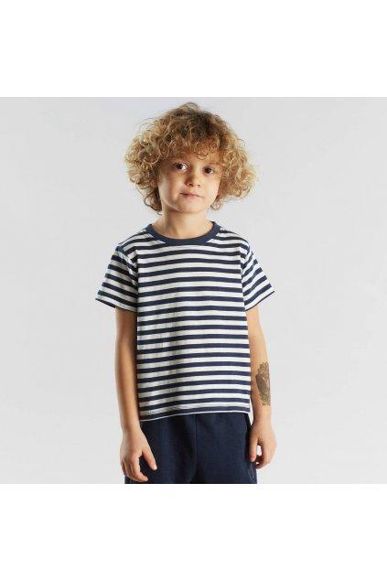 """Detské pruhované tričko """"Hamra Stripes Navy"""""""