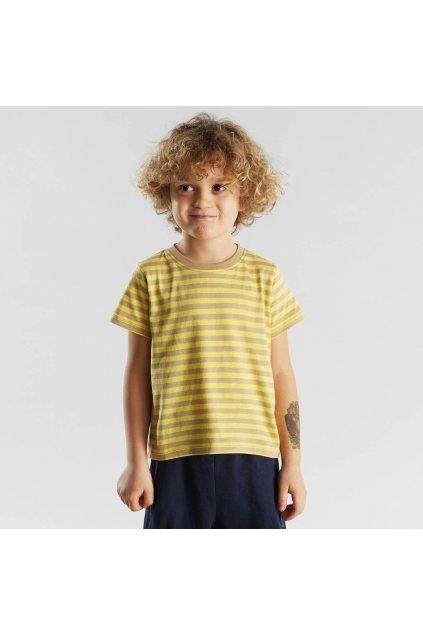 """Detské pruhované tričko """"Hamra Stripes Yellow"""""""