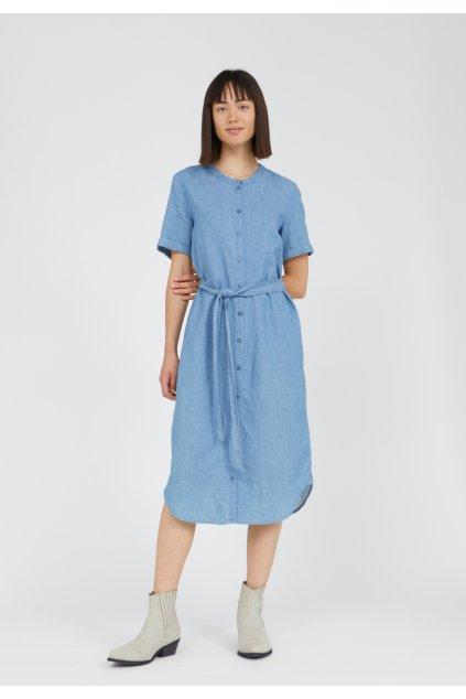 "Dámske modré šaty ""MAARE foggy blue"""