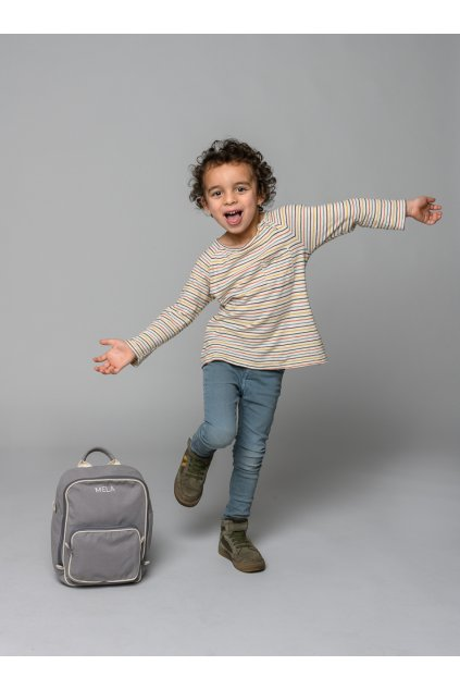 """Menší šedý batoh z biobavlny """"MELA II MINI grey"""""""