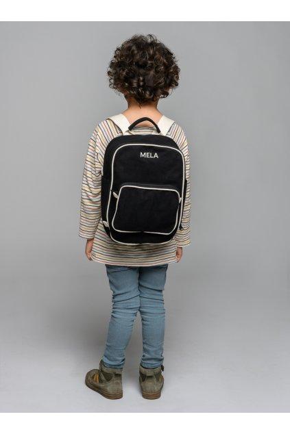 "Menší čierny batoh z biobavlny ""MELA II MINI black"""