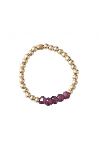 """Dámsky prsteň """"Beauty Garnet Gold Ring"""""""