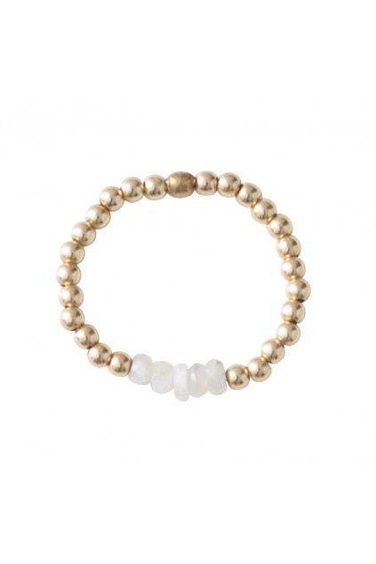 """Dámsky prsteň """"Beauty Moonstone Gold Ring"""""""