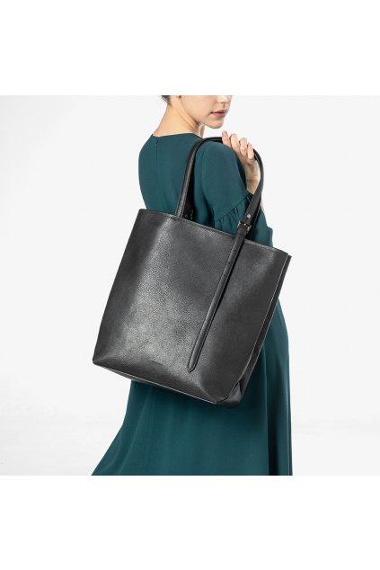 """Dámska čierna kabelka z vegánskej kože """"Adele Nero"""""""