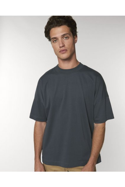 "Unisex šedomodré tričko ""Blaster India Ink Grey"""