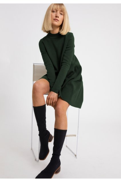 "Dámske zelené pletené šaty ""FRIADAA vintage green"""