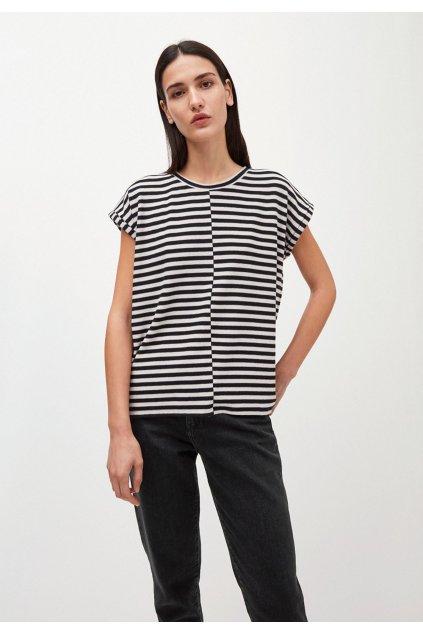 """Dámske pruhované tričko """"JAARIN KNITTED STRIPE kitt/black"""""""