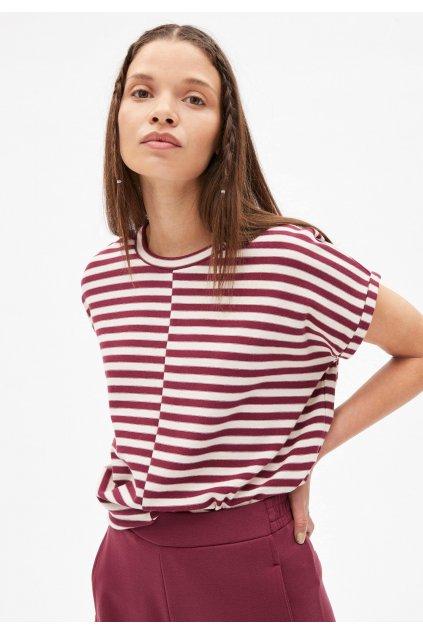 jaarin knitted stripe kitt ruby red