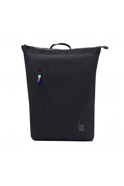 "Čierny batoh ""NO!ROLLTOP BACKPACK black"" z recyklovaných plastov z oceánu"