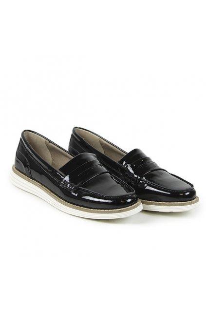 """Čierne lakované mokasíny """"Loafers Black Patent"""""""
