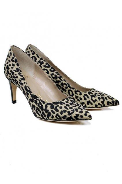 """Lodičky s leopardím vzorom """"Smart Courts Jungle"""""""