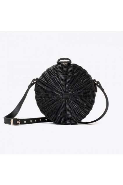 vegan crueltyfree bag straw black italian