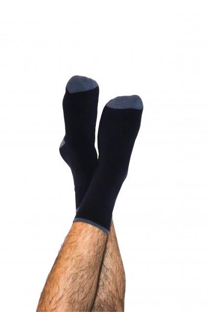 Termo ponožky z biobavlny - tmavě modré (Velikost 35-38)