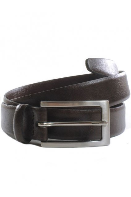 "Tmavohnedý opasok ""Classic 3cm Belt Dark Brown"""