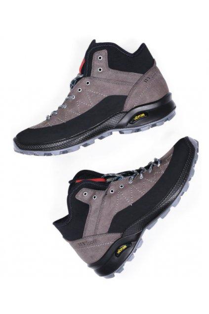 """WVSport Šedé členkové topánky """"Cross Trail Boots"""""""
